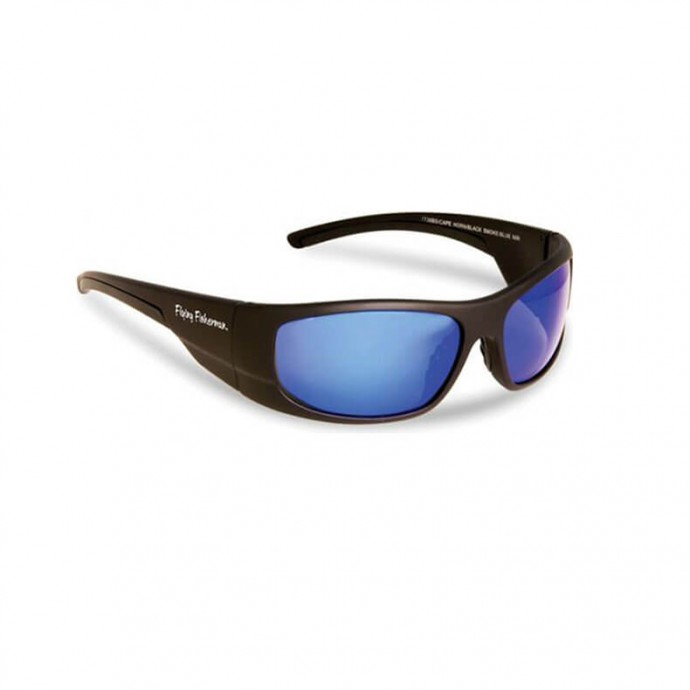 FLYING FISHERMAN CAPE HORN Matte Black / Blue Mirror